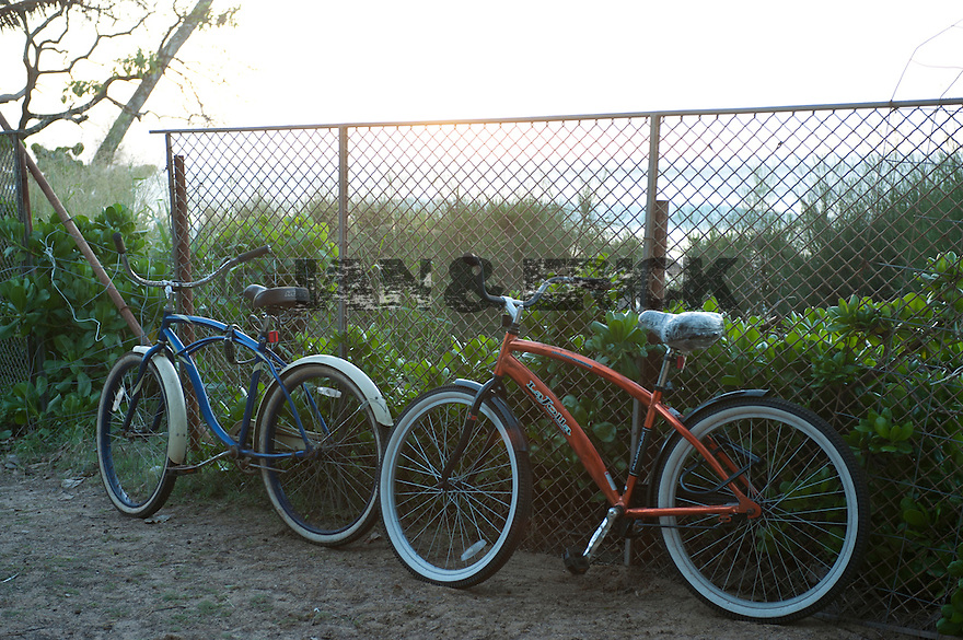 Bikes at Aukai Beach Park in Hawaii