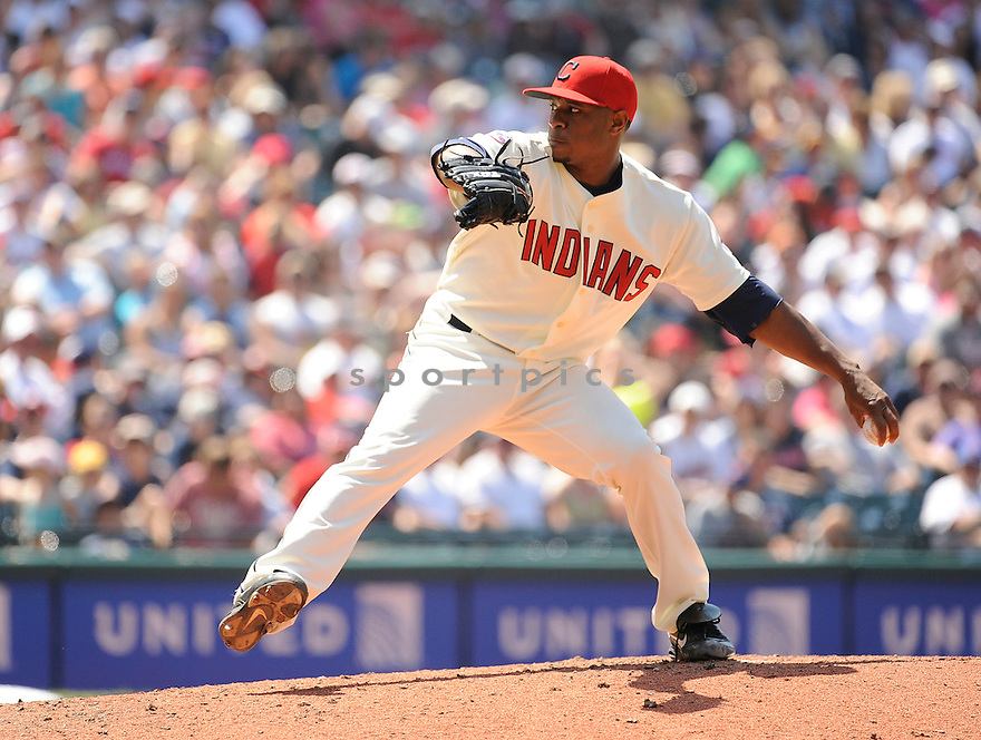 TONY SIPP, of the Cleveland Indians, in action during the Indians game against the Rangers on June 5, 2011 at Progressive Field in Cleveland, Ohio. The Rangers beat the Indians 2-0..