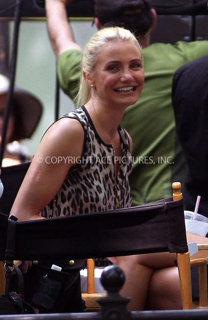WWW.ACEPIXS.COM<br /> <br /> June 27 2013, New York City<br /> <br /> Cameron Diaz on the set of the new movie 'The Other Woman' in Central Park on June 27 2013 in New York City<br /> <br /> By Line: Zelig Shaul/ACE Pictures<br /> <br /> <br /> ACE Pictures, Inc.<br /> tel: 646 769 0430<br /> Email: info@acepixs.com<br /> www.acepixs.com