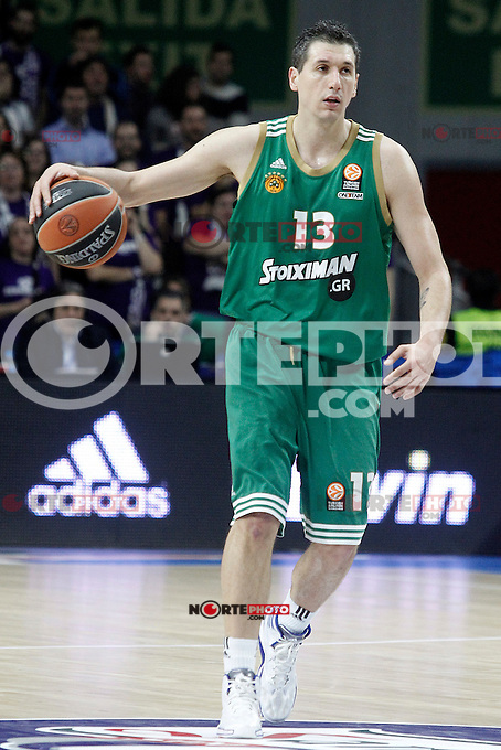 Panathinaikos Athens' Dimitris Diamantidis during Euroleague match.January 22,2015. (ALTERPHOTOS/Acero) /NortePhoto<br />