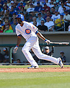 Chicago Cubs Dexter Fowler (24) during a spring training game against the San Diego Padres on March 9, 2015 at Sloan Park in Mesa, AZ. The Padres beat the Cubs 6-3.