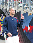 29 January 2006: Clint Dempsey, of the U.S., acknowledges the fans as he takes the field. The United States Men's National Team defeated their counterparts from Norway 5-0 at the Home Depot Center in Carson, California in a men's international friendly soccer game.