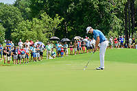 Zach Johnson (USA) watches his putt on 1 during Saturday's round 3 of the PGA Championship at the Quail Hollow Club in Charlotte, North Carolina. 8/12/2017.<br /> Picture: Golffile | Ken Murray<br /> <br /> <br /> All photo usage must carry mandatory copyright credit (&copy; Golffile | Ken Murray)
