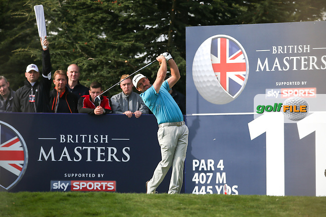 Graeme McDowell (NIR) with the wind in his sails heading down the 11th during Round Three at the The British Masters 2016, at The Grove, Hertfordshire, England. 15/10/2016. Picture: David Lloyd | Golffile.