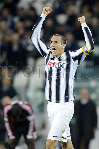 20.03.2012. Turin, Italy.  Coppa Italia versus Juventus Milan. Phtoo Giorgio Chiellini  The game ended in a 2-2 draw with Juventus going through to the next round 4-3 on aggregate.