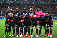 Lille OSC line up before Lille OSC vs Chelsea, UEFA Champions League Football at Stade Pierre-Mauroy on 2nd October 2019