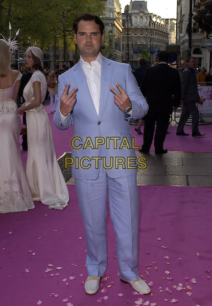 "JIMMY CARR.""Confetti"" world premiere at Vue West End, London, UK..May 3rd, 2006.Ref: CAN.full length blue suit hand gesture.www.capitalpictures.com.sales@capitalpictures.com.©Capital Pictures"