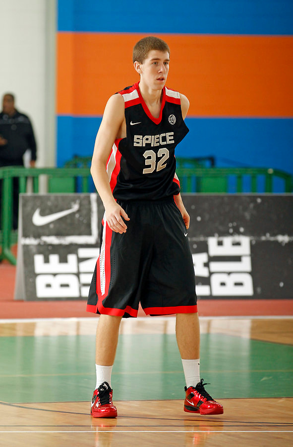 April 9, 2011 - Hampton, VA. USA; Austin Burgett participates in the 2011 Elite Youth Basketball League at the Boo Williams Sports Complex. Photo/Andrew Shurtleff