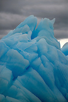 Icebergs, Icy Bay, Alaska, which is formed by four receding glaciers in the St. Elias Mountain range.