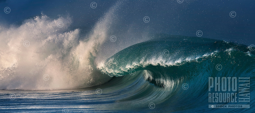 During winter, waves can reach 20 feet or more at the world-famous Waimea Bay, North Shore, O'ahu.