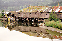 The old saw mill in Sequim, Washington