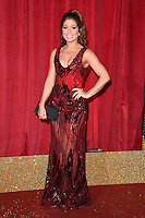 Nikki Sanderson<br /> arrives for the British Soap Awards 2016 at Hackney Empire, London.<br /> <br /> <br /> &copy;Ash Knotek  D3124  28/05/2016