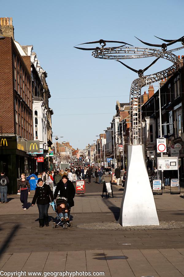 The high street shopping area, Lowestoft, Suffolk, England
