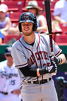 Quad Cities River Bandits first baseman Seth Beer (35) at the plate during a Midwest League game against the Kane County Cougars on July 1, 2018 at Northwestern Medicine Field in Geneva, Illinois. Quad Cities defeated Kane County 3-2. (Brad Krause/Four Seam Images)