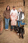 Families gather after Christmas at the Cuneo Ranch in California's Mother Lode. Robin, Jimmy, Lori and Jimmy's dog.