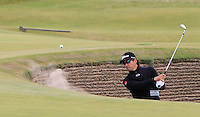 Rafa Cabrera-Bello (ESP) on the 14th green during Round 4 of the 2015 Alfred Dunhill Links Championship at the Old Course in St. Andrews in Scotland on 4/10/15.<br /> Picture: Thos Caffrey | Golffile