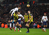 30th January 2019, Wembley Stadium, London England; EPL Premier League football, Tottenham Hotspur versus Watford; Fernando Llorente of Tottenham Hotspur heads the ball to score his sides 2nd goal in the 87th minute to make it 2-1