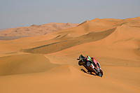12th January 2020, Riyadh, Saudi Arabia;  309 Al Rajhi Yazeed (sau), Zhiltsov Konstantin (rus), Toyota Hilux, Overdrive Toyota, during Stage 7 of the Dakar 2020 between Riyadh and Wadi Al-Dawasir, 741 km - SS 546 km, in Saudi Arabia - Editorial Use