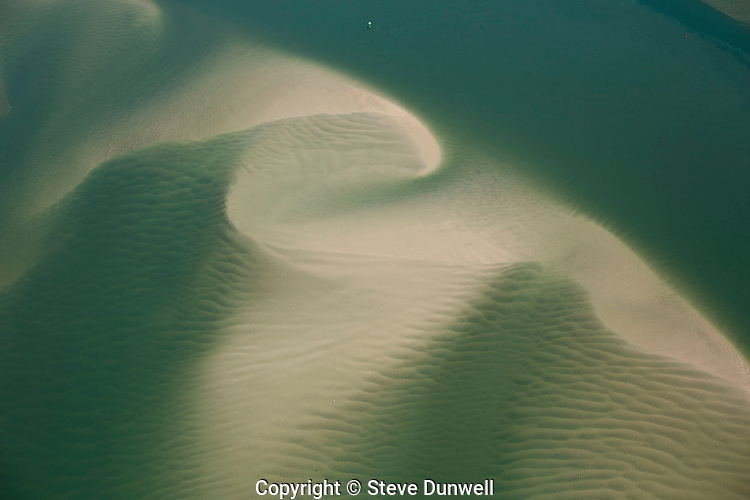 Aerial view of sand patterns at Cape Lookout, Outer Banks, Beaufort, NC