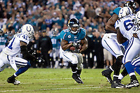December 17, 2009:    Jacksonville Jaguars running back Maurice Jones-Drew (32) during AFC South Conference action between the Indianapolis Colts and Jacksonville Jaguars at Jacksonville Municipal Stadium in Jacksonville, Florida.  Indianapolis defeated Jacksonville 35-31............