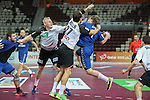 handball wordl cup match between Germany and Russia. Defense Germany . 2015/01/18. Doha. Qatar. Alberto de Isidro. . 2015/01/18. Doha. Qatar. Alberto de Isidro. Photocall 300