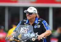 May 1, 2016; Baytown, TX, USA; NHRA funny car driver John Force during the Spring Nationals at Royal Purple Raceway. Mandatory Credit: Mark J. Rebilas-USA TODAY Sports