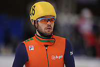 "SHORT TRACK: MOSCOW: Speed Skating Centre ""Krylatskoe"", 15-03-2015, ISU World Short Track Speed Skating Championships 2015, Semifinals 1000m Men, Sjinkie KNEGT (#148 | NED), ©photo Martin de Jong"