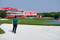 Patrick Reed (USA) in the 18th fairway bunker during the 1st round at the WGC HSBC Champions 2018, Sheshan Golf CLub, Shanghai, China. 25/10/2018.<br /> Picture Phil Inglis / Golffile.ie<br /> <br /> All photo usage must carry mandatory copyright credit (&copy; Golffile | Phil Inglis)