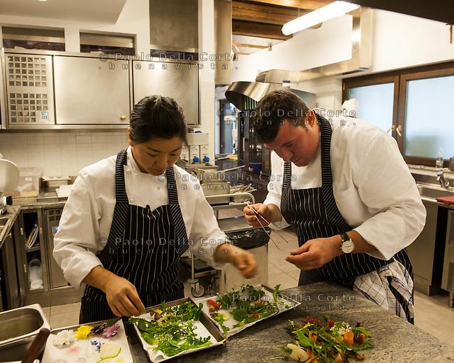 Cividale del Friuli: Orsone the Joe Bastianich Restaurant. Eduardo Valle Lodo e Kelly Jeun chef di Orsone e compagni nella vita.