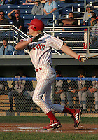 June 27, 2003:  Third baseman Jake Blalock, brother of Hank Blalock,  of the Batavia Muckdogs, Class-A affiliate of the Philadelphia Phillies, during a NY-Penn League game at Dwyer Stadium in Batavia, NY.  Photo by:  Mike Janes/Four Seam Images
