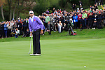 Matt Kuchar lags his putt on the 18th in Saturday afternoon's foursomes at the 2010 Ryder Cup, Celtic Manor, Newport, Wales, Saturday 2nd October 2010..Picture Manus O'Reilly/www.golffile.ie