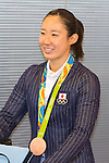 XXXX, Rio 2016 Olympic YYYY ZZZZ medalist, arrives at Tokyo International Airport on August 24, 2016, Tokyo, Japan. Hundreds of fans were waiting to get close to the sports stars returning from the 2016 Rio Olympic Games. (Photo by Rodrigo Reyes Marin/AFLO)