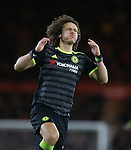 David Luiz of Chelsea reacts after his free kick missed the target during the English Premier League match at the Riverside Stadium, Middlesbrough. Picture date: November 20th, 2016. Pic Simon Bellis/Sportimage