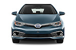 Car photography straight front view of a 2015 Toyota Auris Lounge 5 Door Hatchback Front View