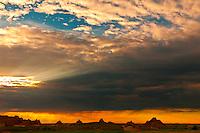 Sunset, Badlands National Park, South Dakota USA
