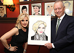 Orfeh and Max Klimavicius during the Sardi's Portrait unveiling for Orfeh on July 18, 2019 in New York City.