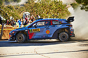 6th October 2017, Costa Daurada, Salou, Spain; FIA World Rally Championship, RallyRACC Catalunya, Spanish Rally; Thierry Neuville and his co-driver Nicolas Gilsoul of Belgium compete in their Hyundai Motorsport I20 Coupe WRC during the Terra Alta Stage