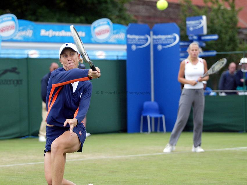 Photograph: Scott Heavey..Hastings Direct Womens Tennis.  Eastbourne. 18/06/2003..Rennae Stubbs