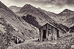Abandoned shack at ghost town of Animas Forks, Colorado