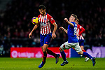 Rodrigo Cascante of Atletico de Madrid (L) is tackled by Iker Muniain Goni of Athletic de Bilbao during the La Liga 2018-19 match between Atletico de Madrid and Athletic de Bilbao at Wanda Metropolitano, on November 10 2018 in Madrid, Spain. Photo by Diego Gouto / Power Sport Images