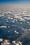Cumulus clouds (cumulus humilis) over the Mississippi River