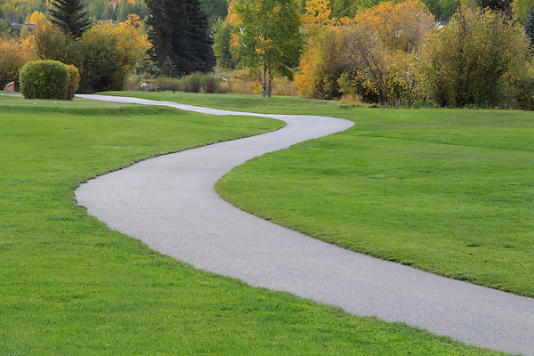 Pathway at Vail Golf Course, Vail Colorado.