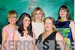 Kerry O'Connor Killarney, Annette O'Brien Killarney, Heidi Higgins Portlaoise, Catriona Rohan Castlegregory and Claire O'Connor Dublin at the Christmas in Killarney fashion show in the Killarney Park Hotel on Thursday nig..