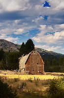 Old barn on Speropolus Ranch. Payette National Forest. Idaho