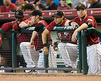 Hawkins, Michaels, Boone, Erstad 5737.jpg Philadelphia Phillies at Houston Astros. Major League Baseball. September 6th, 2009 at Minute Maid Park in Houston, Texas. Photo by Andrew Woolley.