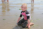 Alex Cooke<br /> enjoying the Sun and Sea in clogherhead beach<br /> Picture:  www.newsfile.ie
