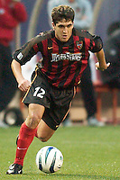 Jose Galvan started and played 80 minutes in his first game as a MetroStar. The Dallas Burn were defeated by the NY/NJ MetroStars 2-1 on 5/24/03 at Giant's Stadium, East Rutherford, NJ.