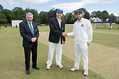 Cricket Scotland - Scotland V Namibia, in this week's 4 day Intercontinental Cup - Namibia Captain Sarel Burger (centre) won the toss and elected to bat - here with Scotland Captain Kyle Coetzer and match referee David Jukes - picture by Donald MacLeod - 07.06.2017 - 07702 319 738 - clanmacleod@btinternet.com - www.donald-macleod.com