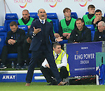 Everton's Roberto Martinez looks on dejected during the Barclays Premier League match at the King Power Stadium.  Photo credit should read: David Klein/Sportimage