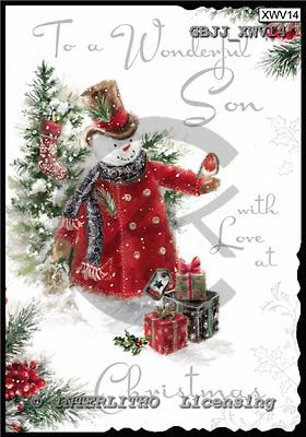 Jonny, CHRISTMAS SANTA, SNOWMAN, paintings, GBJJXWV14,#x# Weihnachtsmänner, Schneemänner, Weihnachen, Papá Noel, muñecos de nieve, Navidad, illustrations, pinturas